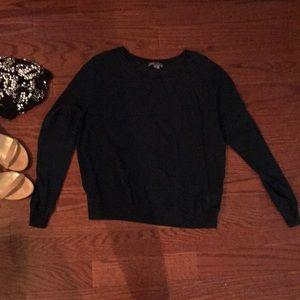 Vince Navy Silk Chiffon Blouse Size XS